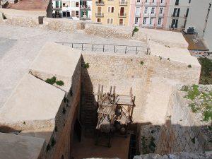 Die Kasematte des Bollwerks von Sant Pere von oben.