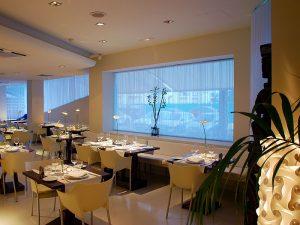 Das Restaurant El Hotel Pachá an der Strandpromenade
