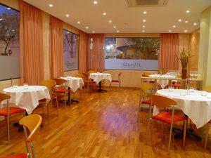 Der Speisesaal des Restaurants S'Ametller im Stadtviertel Es Pratet